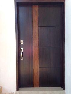 No photo description available. Wood Front Doors, The Doors, Panel Doors, Wooden Doors, Windows And Doors, Barn Doors, Flush Door Design, Main Door Design, Wooden Door Design
