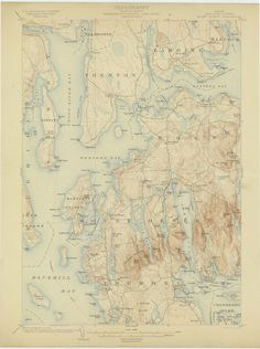 Mapping-and-Visualization — Scott Reinhard Graphic Design and Cartography Old Maps, Antique Maps, Vintage World Maps, Thing 1, Map Design, Graphic Design, Bel Art, Map Artwork, Island Map