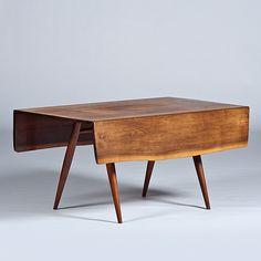 modern George Nakashima dropleaf table