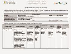 Docente Competente.: Formatos de planificación educativa.