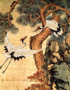 조선시대, 무병장수 기원 장생도, 세로 157cm, 가로 98.6cm, 두께 3.2cm Art Block, Chinese Art Painting, Japanese Drawings, Korean Art, Naive Art, Painting, Art, Art Pictures, Zen Art