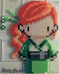 Yet another cute cross stitch pattern turned into perler form lol!  WARNING:If some of you guys plan on making this. You might want to put some clear beads in between some of the parts ...