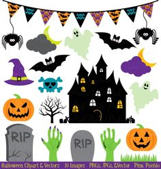 Halloween Clip Art & Vectors - Luvly Marketplace | Premium Design Resources #halloween #skulls #clipart