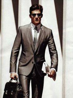 We're digging the shiny suit! Men's Fashion..