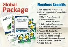 Our Global Package Single Header pesos only Benefit, Packaging, Passive Income, Header, Medicine, San, Drink, Chocolate, Natural