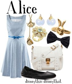 Last Disney out pin for the day  Tell me what kind of Disney (or non Disney) outfits you guys would like see and I will find something.  This last pin is an Alice look I really like the bow , the flats, and the bag