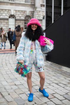 Street style from day one of London Fashion Week. Photo: Emily Malan/Fashionista #LFW #style #streetstyle