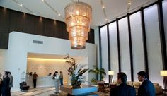 Epic Hotel is one of Miami's foremost Hotels! Located in Downtown Miami – Brickell Area – Epic Hotel provides its guests with the most amazing view Hotel Reception, Downtown Miami, Lobbies, Top Hotels, Hotel Lobby, Ceiling Lights, Elegant, Home Decor, Classy