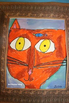 Art Projects, Inspiration and Random Art Teacher Mumble. Class Art Projects, Classroom Art Projects, Art Classroom, First Grade Art, 2nd Grade Art, Grade 2, Chalk Pastel Art, Oil Pastel Art, Kindergarten Art Lessons