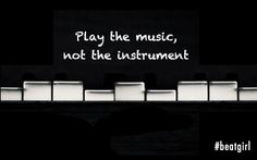 Play the music and focus on sending a message of emotion and beauty wrapped in a piece of art for the ears, and don't simply focus on hitting notes on a lifeless instrument. Bring the instrument to life not with precise notes, but with music and passion.