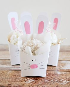 Fry Box Bunny as Easter Treat Containers Easter Activities For Kids, Easter Crafts For Kids, Cute Easter Bunny, Hoppy Easter, Easter Eggs, Box Bunny, Bunny Bunny, Bunnies, Bunny Birthday