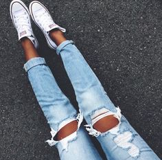 Ripped jeans #ripped #jeans #style