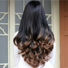 Cheap hair cuts styles long hair, Buy Quality hair machin directly from China hair color highlights dark hair Suppliers: Synthetic Half Wig Curly Hair Long Wavy Ombre Half Wigs for Women Female Curly Fake Hair Wig Cheap Realistic Ladies Drag Queen Brown Hair Balayage, Hair Highlights, Bayalage Black Hair, Black Hair With Brown Highlights, Balayage Straight, Color Highlights, Hair Color For Black Hair, Cool Hair Color, Black Hair Ombre