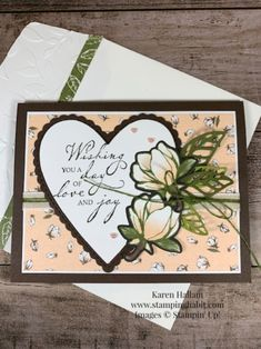 Picks from My Pals Stamping Community! (Mary Fish, Stampin' Pretty The Art of Simple & Pretty Cards) Wedding Anniversary Cards, Wedding Cards, Happy Anniversary, Stampin Pretty, Stamping Up Cards, Heart Cards, Pretty Cards, Birthday Cards, Birthday Images