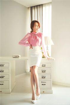 Korean Women`s Fashion Shopping Mall, Styleonme. Kpop Outfits, Korean Outfits, Mode Outfits, Korean Clothes, Fashion Models, Girl Fashion, Fashion Outfits, Womens Fashion, Fasion