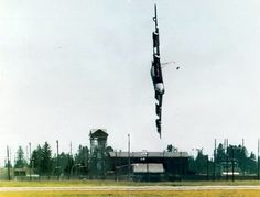 http://en.wikipedia.org/wiki/Boeing_B-52_Stratofortress B-52H 61-0026 Czar 52 seconds before crashing during practice for an airshow on 24 June 1994. The copilot's escape hatch, detached during the incomplete ejection sequence, can be seen near the tip of the vertical stabilizer.