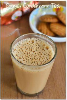 Ginger Cardamom Tea Recipe - Ginger Tea Recipe - Boire et Manger - Tea Yummy Drinks, Healthy Drinks, Yummy Food, Delicious Recipes, Easy Recipes, Cardamom Tea Recipe, Recipe Ginger, Indian Ginger Tea Recipe, Hot Tea Recipes