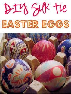 Silk Tie Easter Eggs Craft