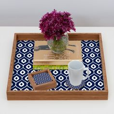 Aimee St Hill Leela Navy Coaster Set | DENY Designs Home Accessories #DENYholiday #blackfridaysale #christmasgifts