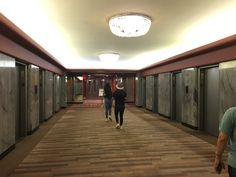 Hotel Pennsylvania in New York City elevators.   Great place to stay.  Paid $760 for 5 nights! Ask for winter sale hotel is across Madison Times Square and a few blocks from broadway and 1 blk from Empire State Building.  2017