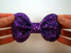 Small Lola Bow // Purple Glitter Hair Bow // by hellobettybow, £6.00 #btnetsy