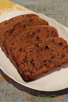 Carla's Chocolate Pound Cake will have everyone wanting seconds! The Chew Recipes, Sweets Recipes, Fun Desserts, Delicious Desserts, Chocolate Pound Cake, Chocolate Desserts, Tooth Cake, Cookie Cake Pie, Sweet Cakes