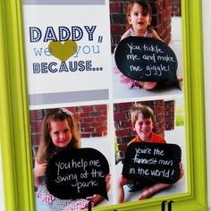Father's Day photo collage
