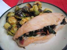 mushroom and spinach stuffed chicken