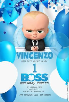 Free Boss Baby Party Invitation Template Party In 2019 Baby