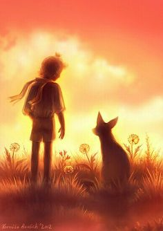 The Little Prince and The Fox. (Speedpaint) by Leffsha on DeviantArt Little Prince Quotes, The Little Prince, My Fantasy World, Fantasy Art, Kim Min Ji, Fox Art, Cross Paintings, Fairy Tales, Anime Art
