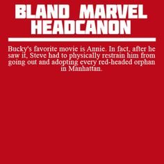 Bland Marvel Headcanons. I love this a lot for some reason...