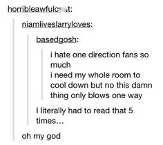 You Know What I Hate Most About One Direction Fans?...