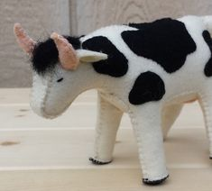 Hey, I found this really awesome Etsy listing at https://www.etsy.com/listing/171204240/felt-cow-cow-ooak