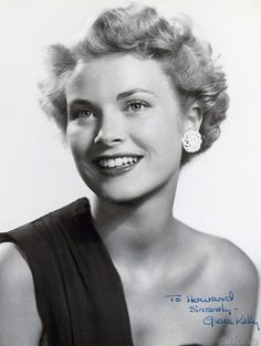 Grace Kelly as a model -- shorter hair gives her quite a different look.