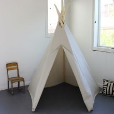 [1 PURCHASED] $150 Fold Away Canvas Teepee : Remodelista