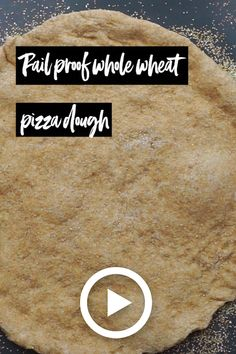 Recipe for how to make fail proof whole wheat pizza dough. This healthy whole wheat pizza crust makes the most delicious crust for pizzas! Pizza Dough Whole Wheat, Wheat Pizza Dough Recipe, Masa Pizza Integral, Healthy Pizza Dough, Sour Dough Pizza Crust, Good Pizza, Pizza Pizza, Quick Pizza, Pizza Kitchen