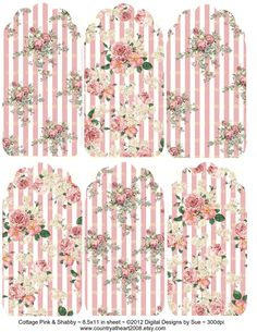 Instant Download Cottage Pink and Shabby por CountryAtHeart2008