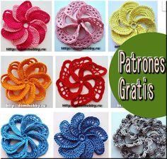 Delicadezas en crochet Gabriela: Paso a paso : Flores tridimensionales