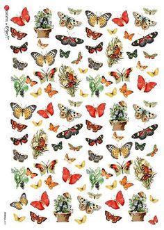 Rice Paper Decoupage, Decoupage Glue, Decoupage Furniture, Washi Tape Planner, White Acrylic Paint, Vintage Butterfly, Vintage Ornaments, Beautiful Butterflies, Vintage Images