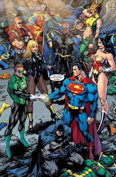 superheroes-or-whatever:  The Justice League by Ed Benes from Justice League (2006-2011).
