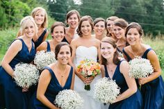 peach and navy wedding // Emily March Photography