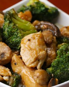 Chicken Broccoli Mushroom Stir Fry | Here's A Stir Fry That Is So Easy To Make You're Going To Be So Full For Dinner