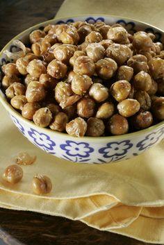 Garbanzos tostados light snack health skinny sano