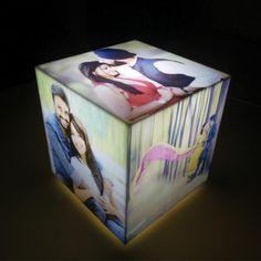Personalised Cube Lamp via Raksha Bandhan Gifts, Rakhi Gifts, Online Gifts, Love Gifts, Personalized Gifts, Cube, Decorative Boxes, Lamps, Stuff To Buy