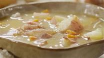 BACON AND POTATO SOUP | In this video, you'll see how to make a comforting potato soup with plenty of bacon. Potatoes simmer in chicken broth with onions, carrots, and celery. Top it off with crumbled bacon and Cheddar cheese, for a wonderfully warming soup on a chilly winter's evening. Watch the video, then get Kwollak's 5-star recipe for Bacon and Potato Soup. Make a big batch—the leftovers taste even better. | CLICK FOR VIDEO AND RECIPE