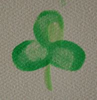 Easy last minute arts & crafts for St. Patrick's Day -- handprint shamrocks, thumbprint shamrocks, and Do-A-Dot marker rainbows!