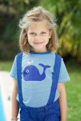 Tootsa MacGinty Bateau striped T Shirt Whale (0-6 Years)