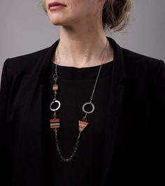 necklace / modifiable / jewelry /  handmade / wood necklace / women / isabelle ferland de la boutique IsabelleFerland sur Etsy