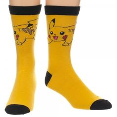 The Joy of Socks - Pokemon Pikachu Yellow Crew Socks (Men's), $8.85 (http://www.joyofsocks.com/pokemon-pikachu-yellow-crew-socks-mens/)