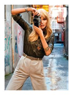 I Love NY with Natasha Poly by Terry Richardson for Vogue Paris February 2013